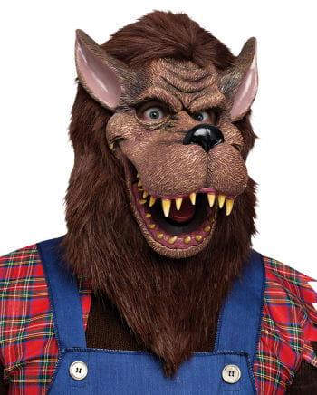 Cartoon Wolf Maske