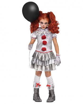 Böses Jahrmarkts Clownmädchen Kinderkostüm