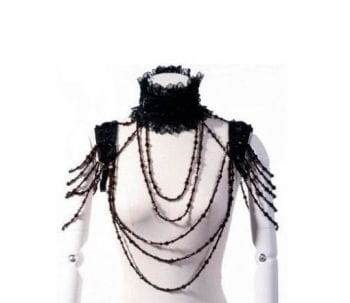 Bolero Kragen mit Perlenketten