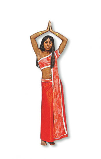 Rotes Bollywood Kostüm
