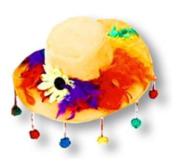 Gelber Bommelhut für Karnval