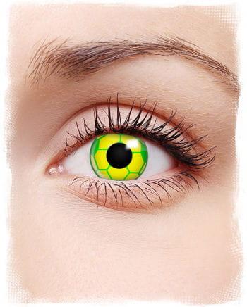 Brazil soccer contact lenses