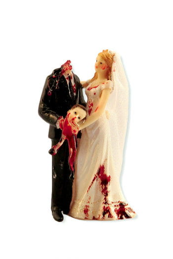 Newlyweds with headless groom 14 cm