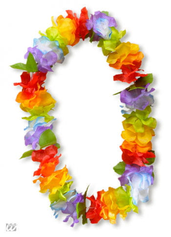 Multi-Coloured Hawaiian Lei