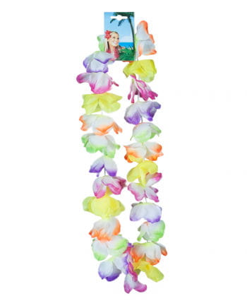 Colorful Hawaiian flower necklace Sunshine