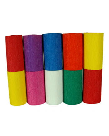 Multicoloured Niflamo Decorative Crepe Paper