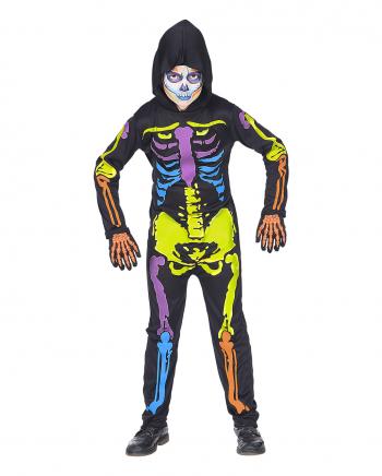 Bunter Kinder Skelett Overall