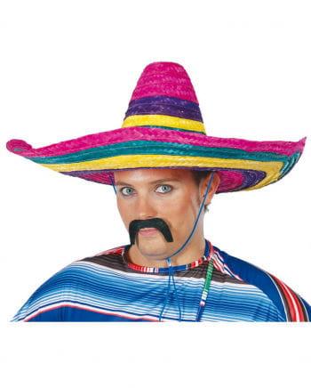 Farbenfroher Stroh Sombrero