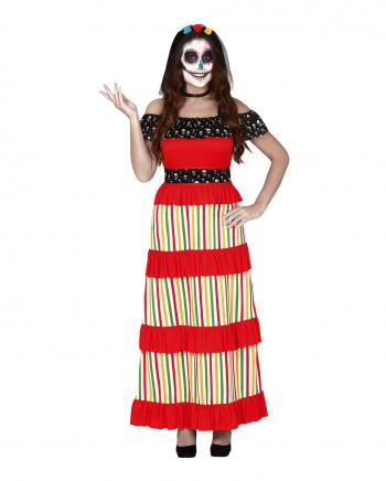 Colorful Dia De Los Muertos Ladies Costume