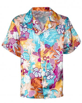 Beachparty Hemd aus Satin