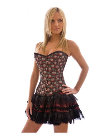 Lolita Miniskirt burgundy / black