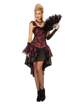 Dunkelrotes Burlesque Kostümkleid