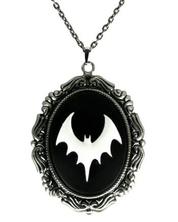 Cameo Necklace Bat