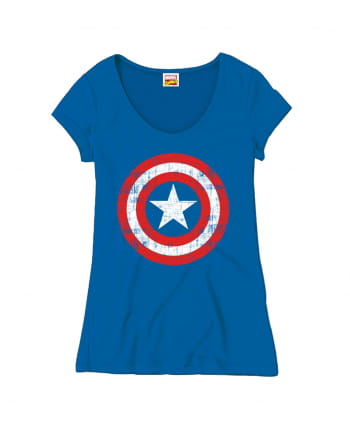 Captain America Cracked Shield Damen-Shirt