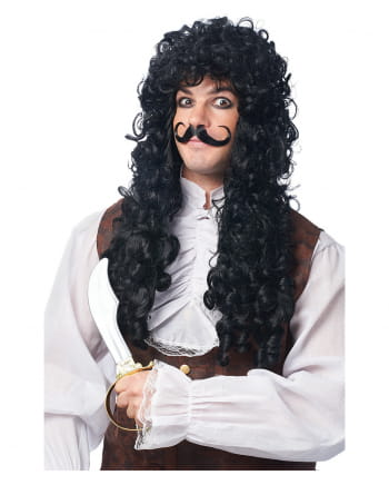 Captain Hook Wig Black