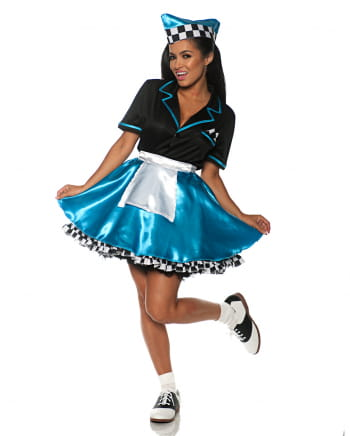 Car Hop Girl Costume turquoise