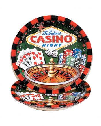 Große Casino Pappteller