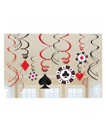 12 Casino Party Spiralhänger