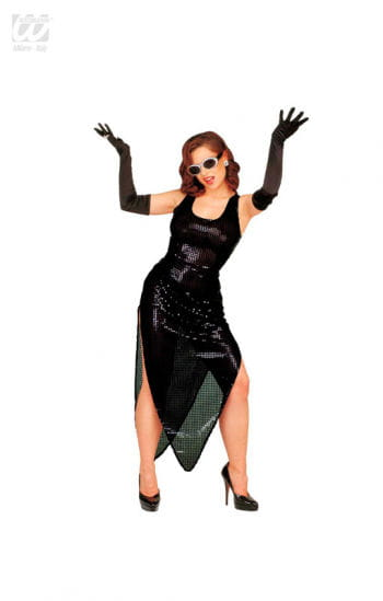 Schwarzes Celebrity Pailletten Kleid