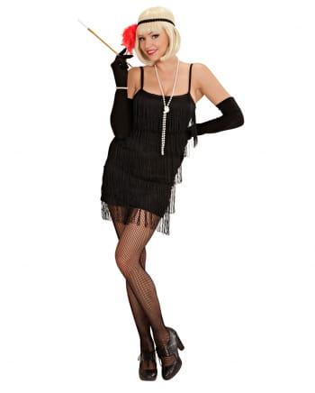 schwarzes Charleston Kleid M
