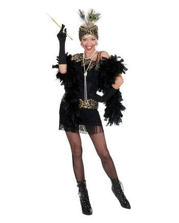 Flapper Kleid schwarz-gold