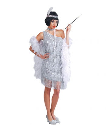 Heißes Charleston Kleid Silber