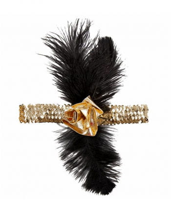 Charleston headdress black gold