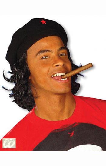 Che Mütze mit schwarzem Kunsthaar