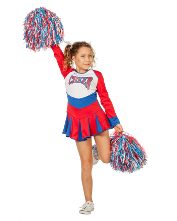 Cheerleader Children Costume Red-blue