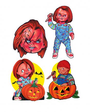 Chucky Child's Play Wall Decoration 4-pcs.