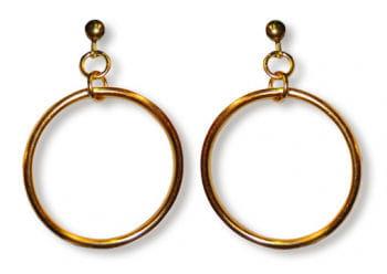 Hoop Clip On Earrings Gold