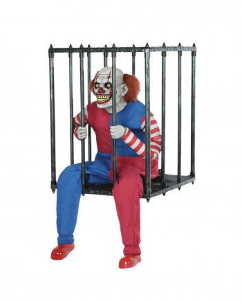 Clown In A Cage Walking Act Halloween Animatronic