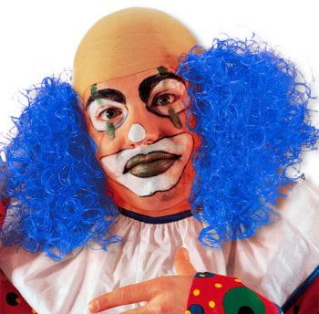 Clown Perücke mit blauem Haar