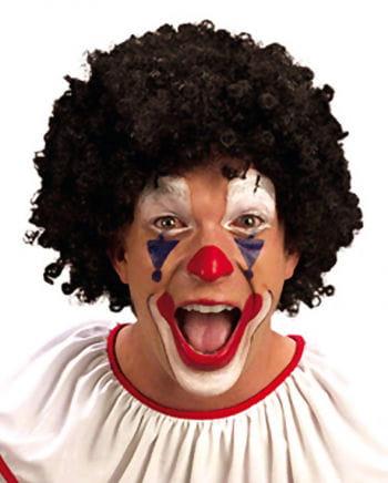 Schwarze Clown Perücke