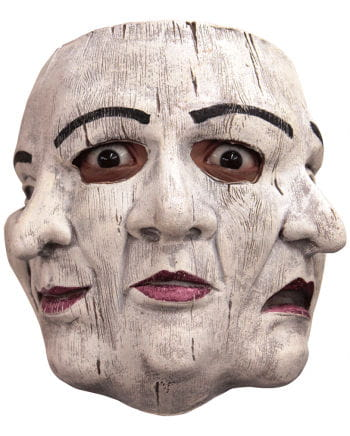 Latex Theater Maske 3-gesichtig