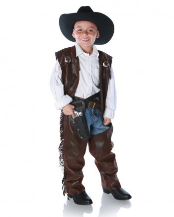 Cowboy Chaps & Fransen Weste Kinderkostüm