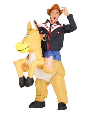 Aufblasbares Cowboy Carry Me Kostüm
