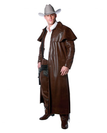 Western Kostüm Mantel braun