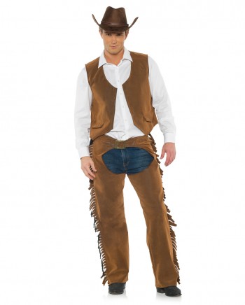 Cowboy Kostüm mit Weste & Chaps
