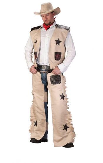 Cowboy Costume Beige 4-piece