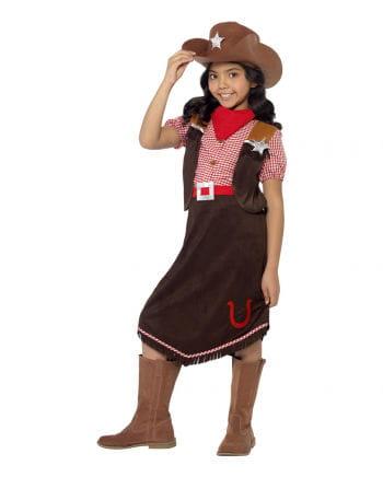 Cowgirl Deluxe Kinderkostüm mit Hut