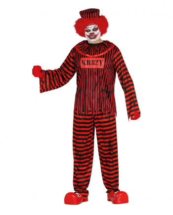 Crazy Killer Clown Men Costume