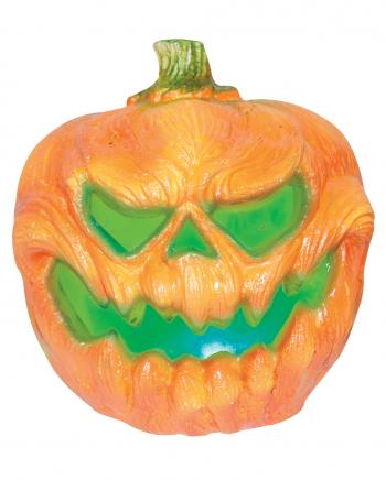 Creepy Pumpkin Halloween Deco With Light 19cm
