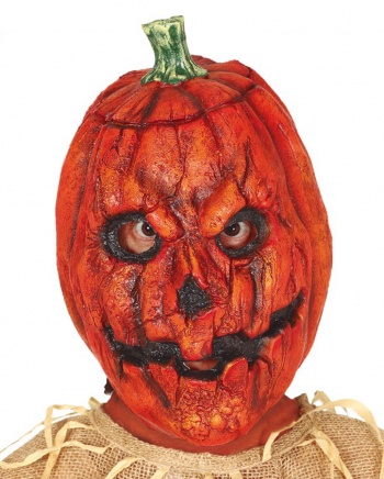 Creepy Pumpkin Latex Mask