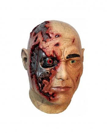 Cyborg Maske aus Latex