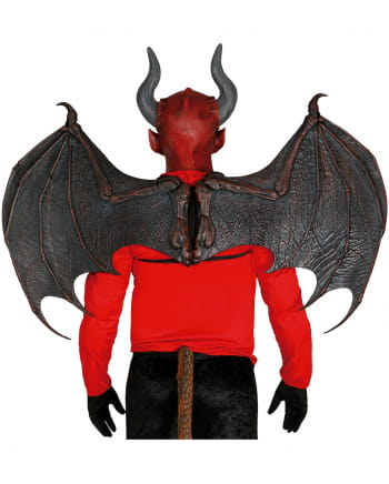 Teufelsflügel aus Latex 100 x 80 cm
