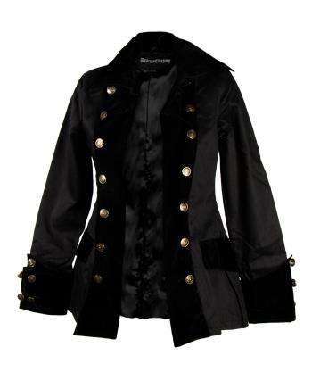 Schwarze Piratenjacke für Damen