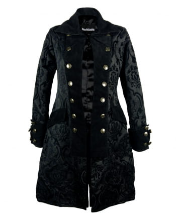 Ladies Pirate Coat Black Brocade