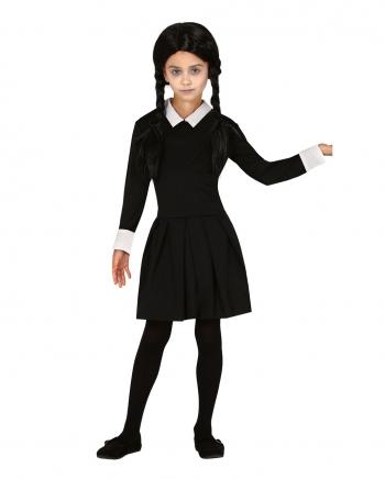 Spooky Girl Kinder Kostüm Kleid Schwarz