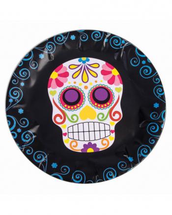 Dia De Los Muertos Sugar Skull Pappteller